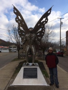 Mothman statue in Point Pleasant, WV